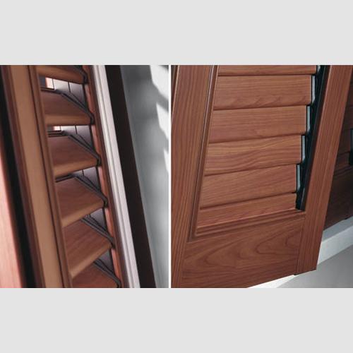 persiana in alluminio effetto legno nova borgomanero