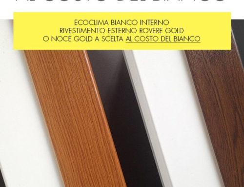 PVC in offerta: serramento bicolore al prezzo del bianco solo fino al 15 Dicembre 2016