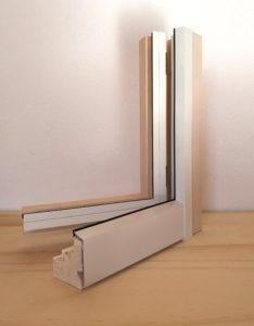 infisso legno alluminio life80