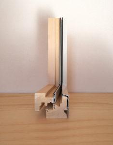 profilo serramento legno alluminio borgomanero