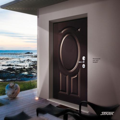 porta blindata effetto legno