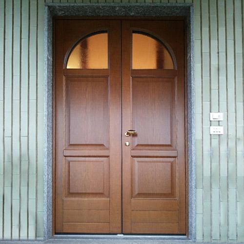 porta di entrata in legno novara