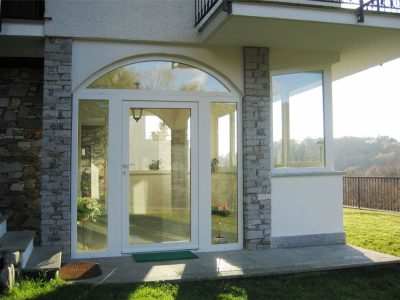 Veranda in PVC bianco