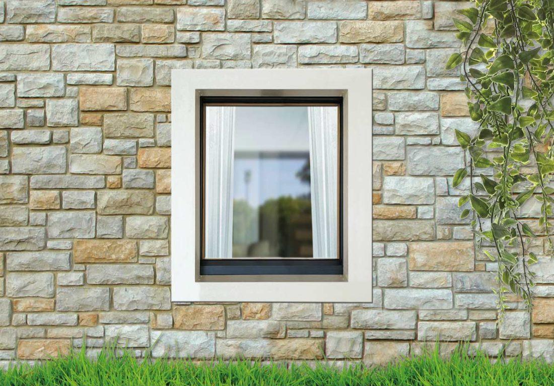 life80 finestra legno alluminio raso muro